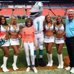 Joanna with the Miami Dolphins Cheerleaders